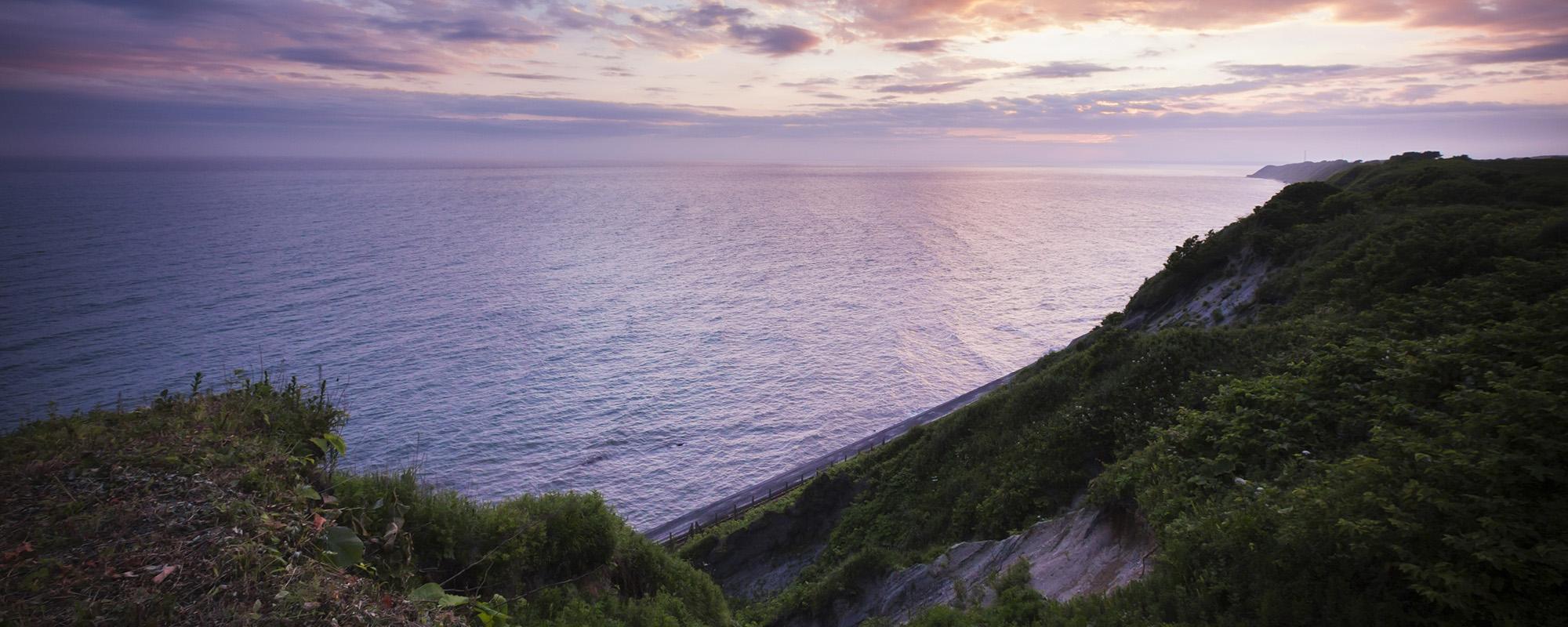 北海道、日高のナチュラルリゾート・ハイジア 海の風景