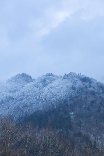 日高の風景;雪山